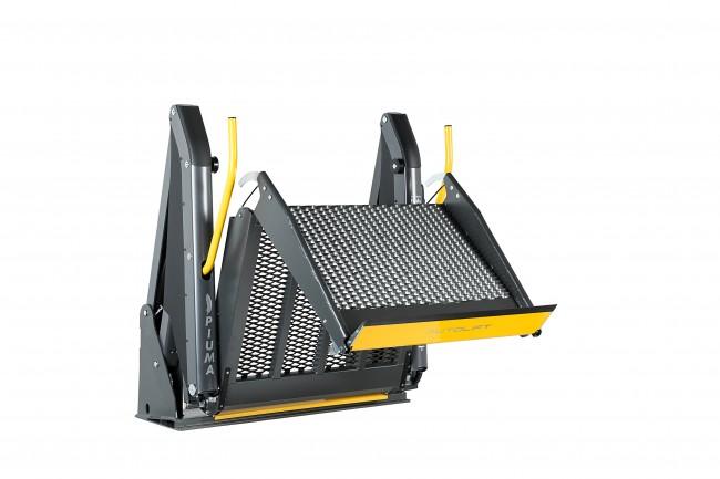 Hayon intérieur double bras PIUMA aménagement de transfert véhicule TPMR chargement du fauteuil roulant Handi Equipement